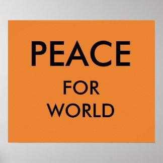 Pôster Paz de mundo