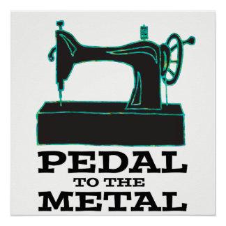 Pôster Pedal ao poster do metal