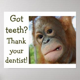 Pôster Pedido especial do humor engraçado dos dentes