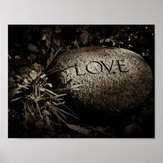"""Poster Pedra cinzelada do """"amor"""" no Sepia"""