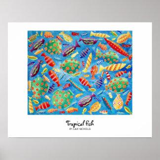 Poster Peixes tropicais
