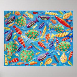 Pôster Peixes tropicais