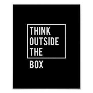 Pôster Pense fora da caixa