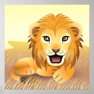 Poster pequeno do leão