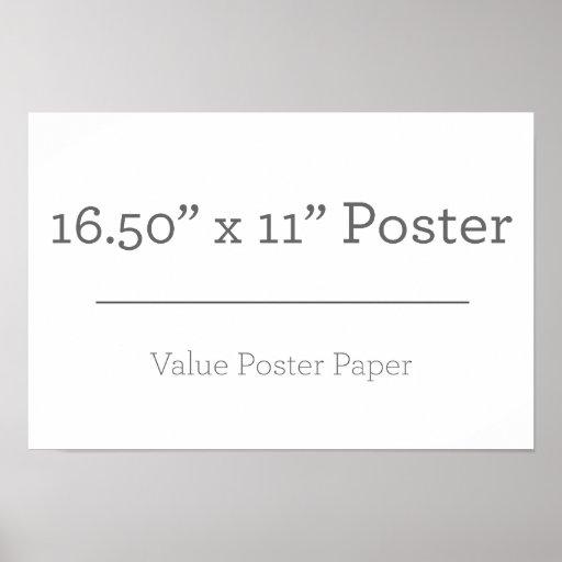 Extra Pequeno (41,91cm x 27,94cm), Papel Poster Especial (Fosco)