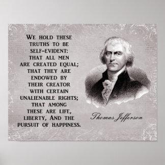 Poster Perseguição da liberdade da vida da felicidade -