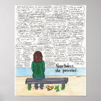 Poster Persistiu (depressão e ansiedade) 11x14