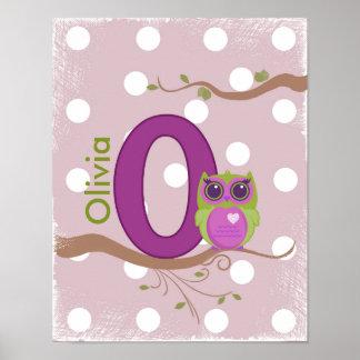 "Poster personalizado da letra ""O"""