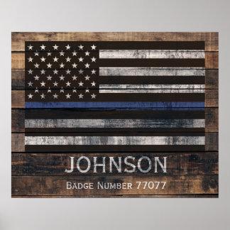 Poster personalizado da polícia