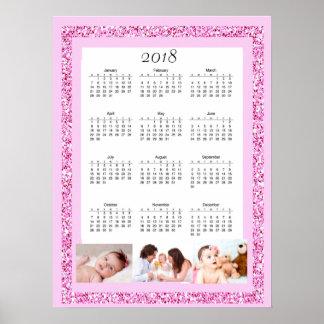Poster personalizado do calendário da foto 2018