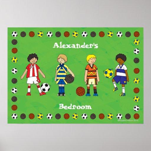 Poster personalizado futebol do futebol do menino