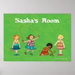 Poster personalizado jogo do quarto das meninas