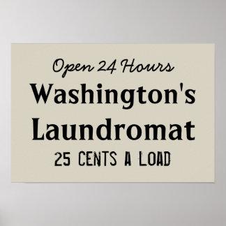Poster personalizado lavandaria da arte da lavagem