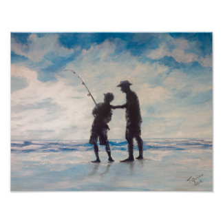 Pôster Pesca do sol e do pai da arte de TQuinn