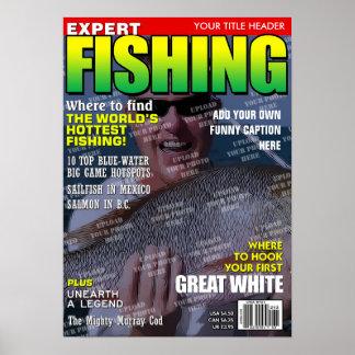 Pôster Pescando a capa de revista personalizada