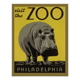 Poster Philadelphfia do jardim zoológico do