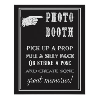 Pôster Photobooth - vintage - sinal - festa de casamento