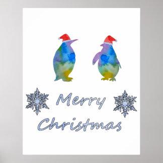 Pôster Pinguins do Natal