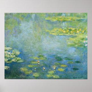 Poster Pintura 1906 de Monet Waterlilies