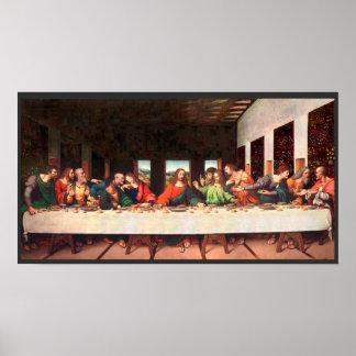 Pôster Pintura da última ceia de Leonardo recreada