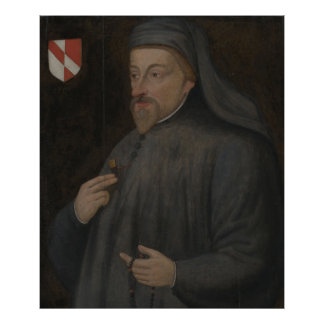 Pôster Pintura do retrato de Geoffrey Chaucer do vintage