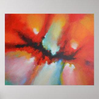 Pôster Pintura moderna de Acrlylic do Expressionism
