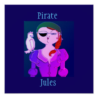 Pôster Pirata Jules o pirata de Eco - poster