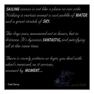 Pôster Poema dos oceanos da navigação
