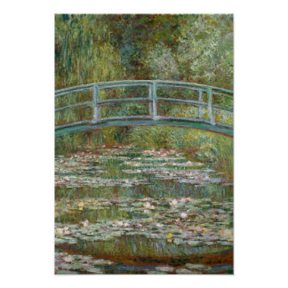 Poster Ponte da arte de Monet sobre uma lagoa de lírios