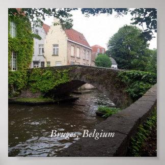 Poster Ponte em Bruges