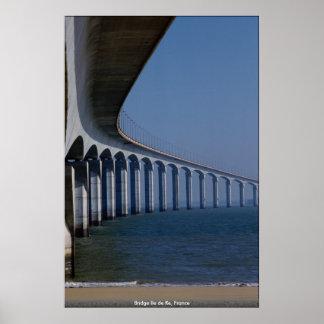 Poster Ponte Ile de Re, France