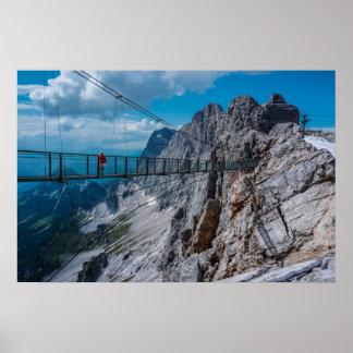 Poster Ponte pingente nas montanhas