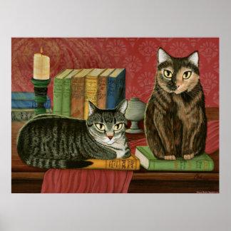 Pôster Ponto de entrada literário clássico dos gatos,