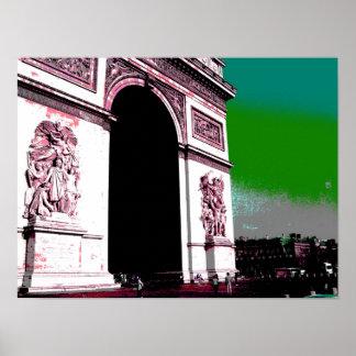 Pôster Pop art Arco do Triunfo