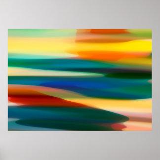 Poster Por do sol abstrato