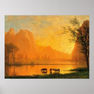 Poster Pôr-do-sol em Yosmite