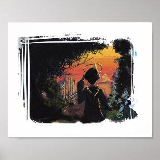 Poster - por do sol lo-fi pelo micgurro