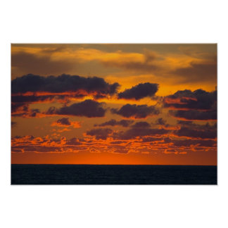 Poster Por do sol, Ludington, Michigan
