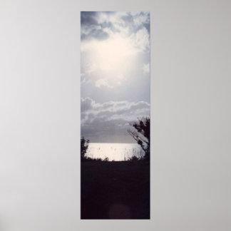 Poster Por do sol sobre os penhascos