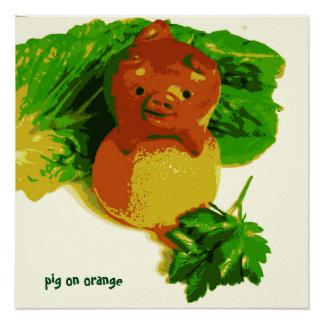 Pôster Porco do poster da arte do miúdo na série