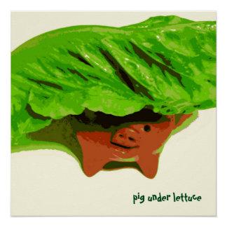 Pôster Porco do poster da arte do miúdo sob a arte da