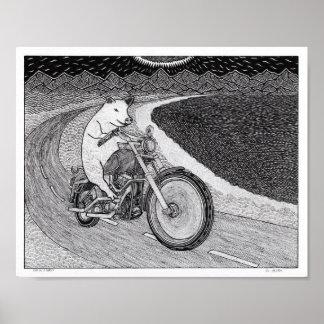 Pôster Porco em um Harley
