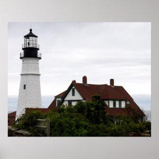 Pôster Portland Lightouse claro principal Maine
