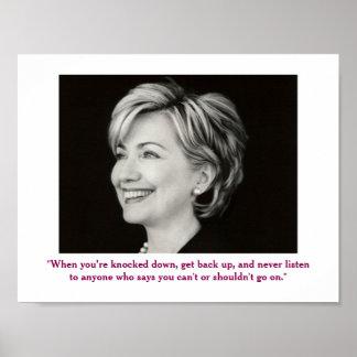 Poster positivo das citações de Hillary Clinton