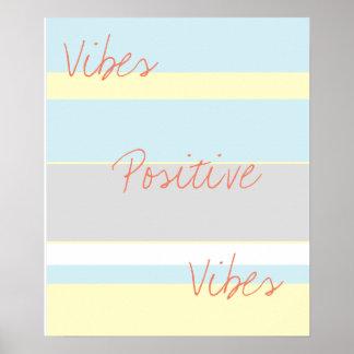 Poster positivo das cores Pastel A3 das impressões