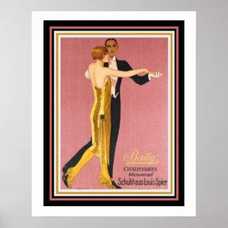 """Pôster """"Poster 16 x 20 de Chaussures Bally"""" do art deco"""