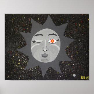 """Pôster """"Poster da arte de 11x14 do Sun o mais sábio"""""""