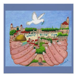 Pôster Poster da arte de Jerusalem