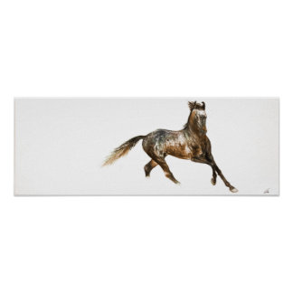 "Pôster ""Poster da arte do cavalo da beleza indiana"" -"