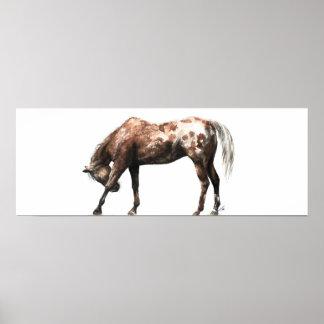 """Pôster """"Poster da arte do cavalo do arco eqüino"""" -"""